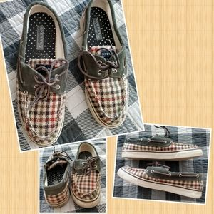 Sperry top-sider check boat shoe woman 8.5